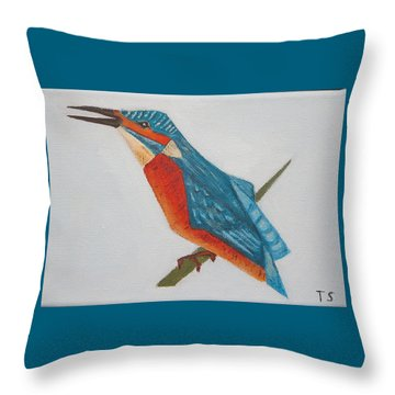 Common Kingfisher Throw Pillow