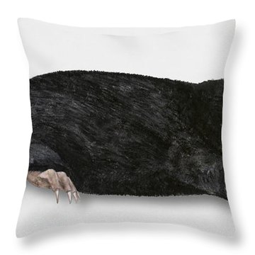 Common Mole Talpa Europaea Throw Pillow