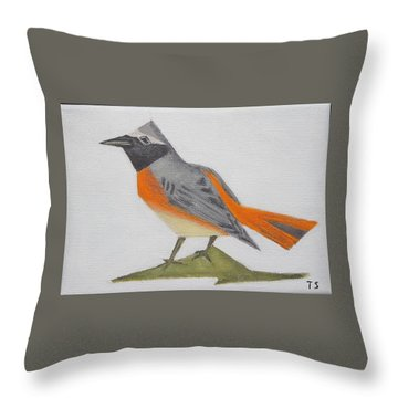 Common Redstart Throw Pillow