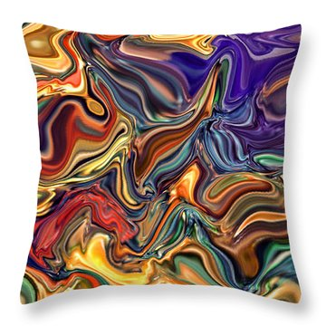 Commotion In The Motion Xvi Throw Pillow