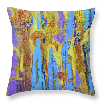 Communion Of Saints Throw Pillow by Elise Ritter