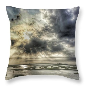 Communion Sunrise Sunset Throw Pillow