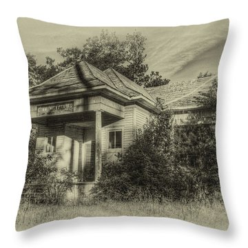 Community Center II In Sepia Throw Pillow