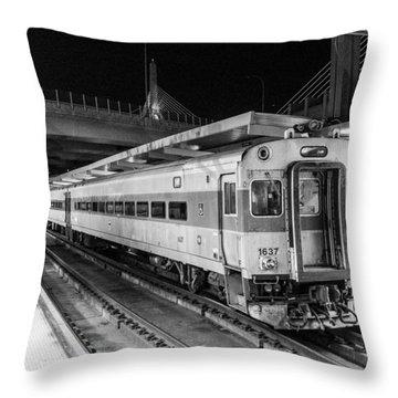 Commuter Rail Throw Pillow