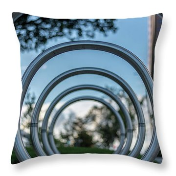 Commuter's Circle Throw Pillow