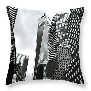 Commuters' View Of 1 World Trade Center Throw Pillow