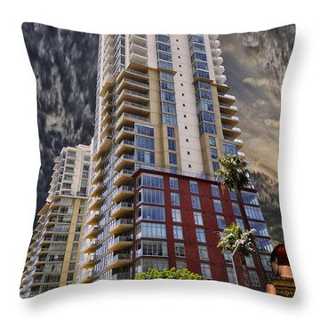 Comotion Near The Pike Throw Pillow by Bob Winberry