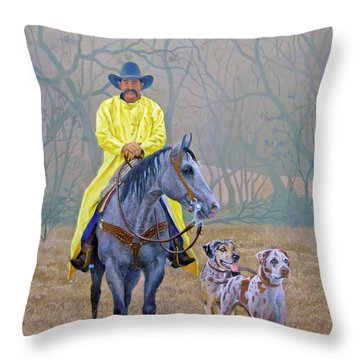 Compadres Throw Pillow