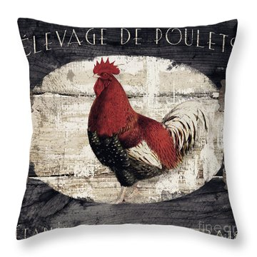 Compagne IIi Rooster Farm Throw Pillow
