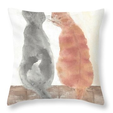 Companion Cats Throw Pillow