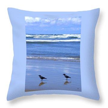 Companion Crows Throw Pillow