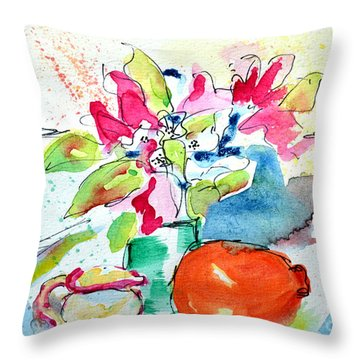 Companions In Freshness Throw Pillow