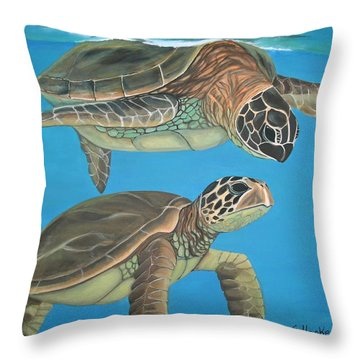 Companions Of The Sea Throw Pillow by Elaine Haakenson