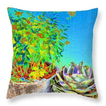 Companionship	 Throw Pillow by Ann Johndro-Collins