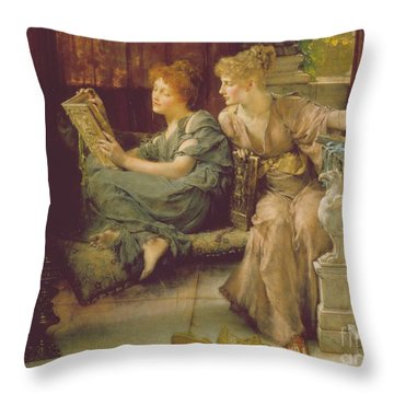 Comparison Throw Pillow by Sir Lawrence Alma-Tadema