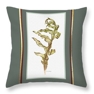 Compass Plant, Fall Throw Pillow by Catherine Twomey