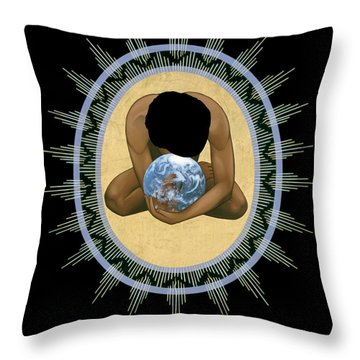 Compassion Mandala - Rlcmm Throw Pillow