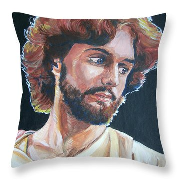 Throw Pillow featuring the painting Compassionate Christ by Bryan Bustard