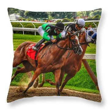 Competing Throw Pillow