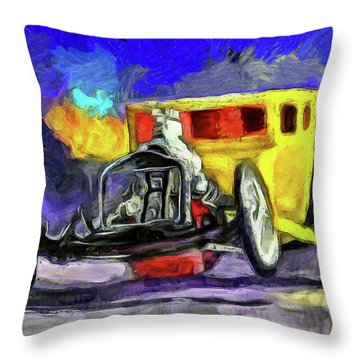 Competition Coupe Van Gogh Throw Pillow