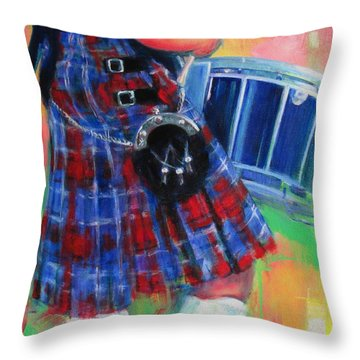 Competition Socks Throw Pillow