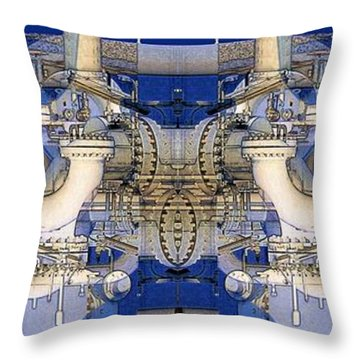 Complex Crude Oil Pricing Throw Pillow by Ron Bissett