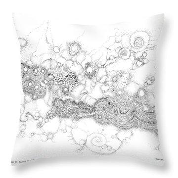 Complex Fluid  Throw Pillow