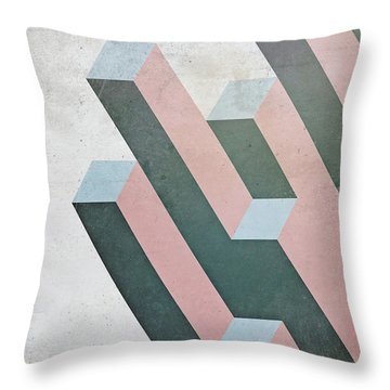 Complex Geometry Throw Pillow