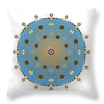 Throw Pillow featuring the digital art Complexical No 1736 by Alan Bennington