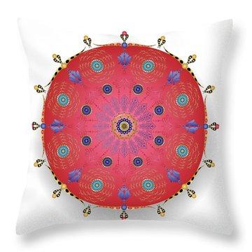 Throw Pillow featuring the digital art Complexical No 1738 by Alan Bennington