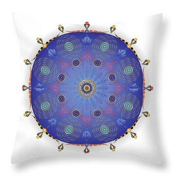 Throw Pillow featuring the digital art Complexical No 1739 by Alan Bennington