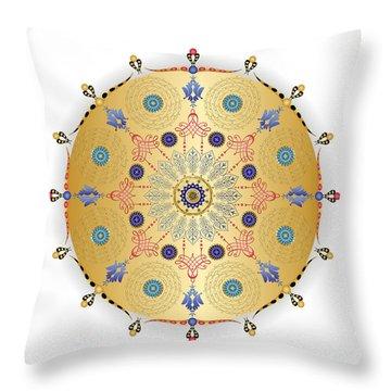Throw Pillow featuring the digital art Complexical No 1740 by Alan Bennington