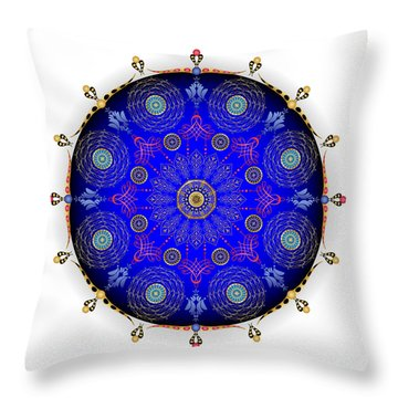Throw Pillow featuring the digital art Complexical No 1742 by Alan Bennington