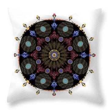 Throw Pillow featuring the digital art Complexical No 1743 by Alan Bennington