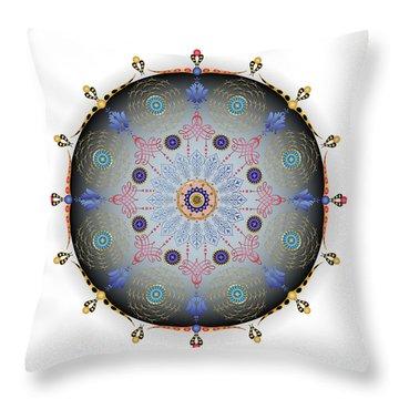 Throw Pillow featuring the digital art Complexical No 1744 by Alan Bennington