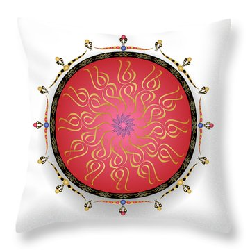 Throw Pillow featuring the digital art Complexical No 1746 by Alan Bennington