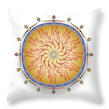 Throw Pillow featuring the digital art Complexical No 1752 by Alan Bennington
