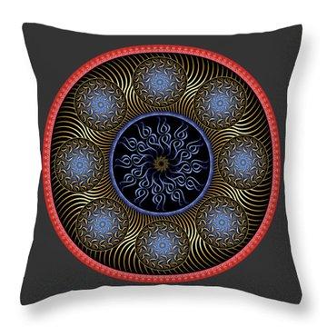 Throw Pillow featuring the digital art Complexical No 1754 by Alan Bennington