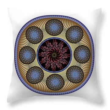 Throw Pillow featuring the digital art Complexical No 1756 by Alan Bennington