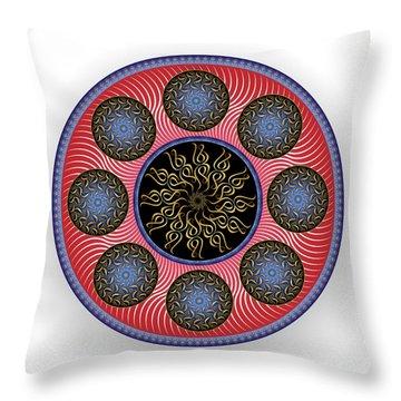 Throw Pillow featuring the digital art Complexical No 1758 by Alan Bennington