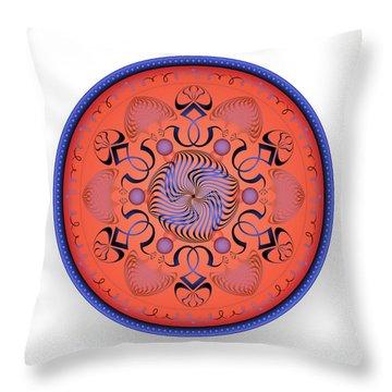 Throw Pillow featuring the digital art Complexical No 1760 by Alan Bennington