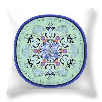 Throw Pillow featuring the digital art Complexical No 1761 by Alan Bennington