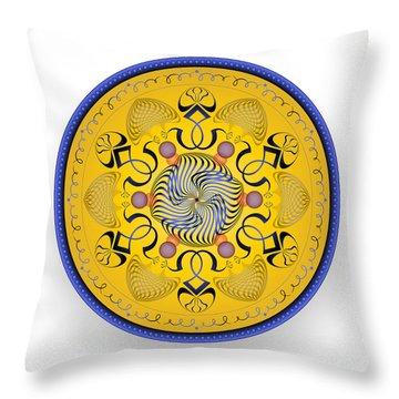 Throw Pillow featuring the digital art Complexical No 1762 by Alan Bennington