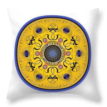 Throw Pillow featuring the digital art Complexical No 1763 by Alan Bennington