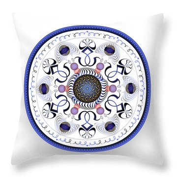 Throw Pillow featuring the digital art Complexical No 1764 by Alan Bennington