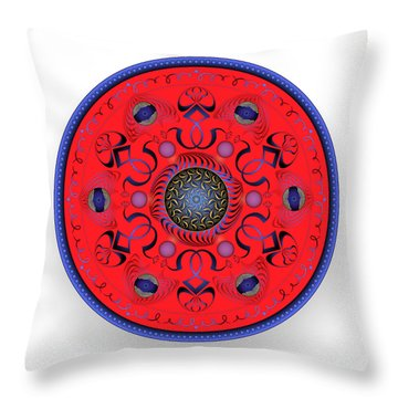 Throw Pillow featuring the digital art Complexical No 1765 by Alan Bennington