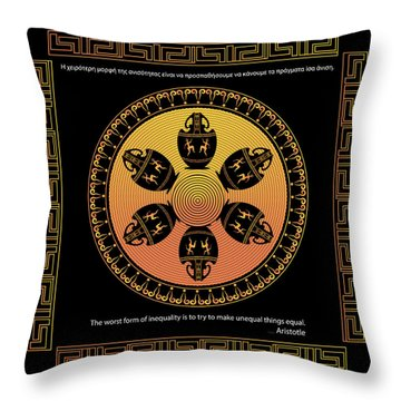 Complexical No 2034 Throw Pillow by Alan Bennington