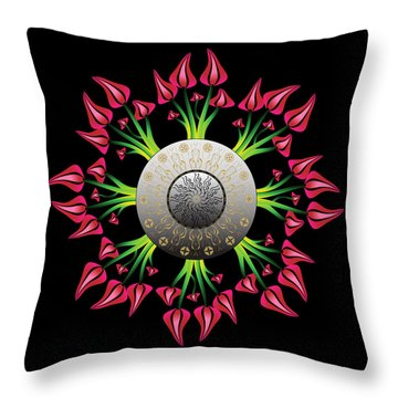 Complexical No 2075 Throw Pillow by Alan Bennington