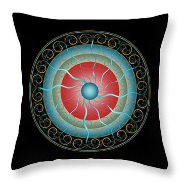Complexical No 2155 Throw Pillow by Alan Bennington