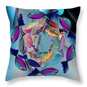 Complexical No 2159 Throw Pillow by Alan Bennington